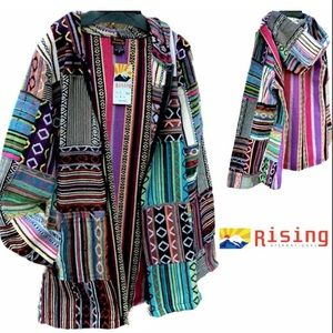 NWT Hippie Rising International Boho Baja Jacket